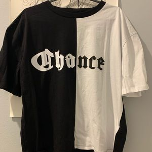 NWT chance split screen t-shirt